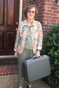 Ruth & suitcase
