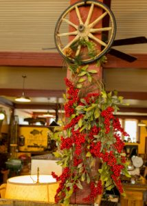 Wagon Wheel Antiques & Gifts Christmas Pole in Calico Rock, Arkansas