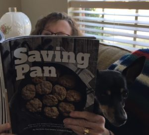 dog and cookbook