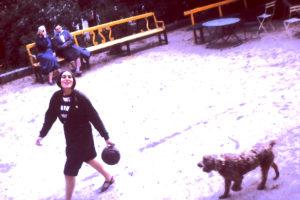 Christine & dog
